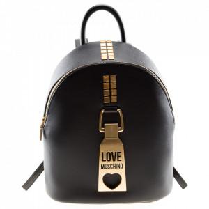 Love Moschino black zip backpack