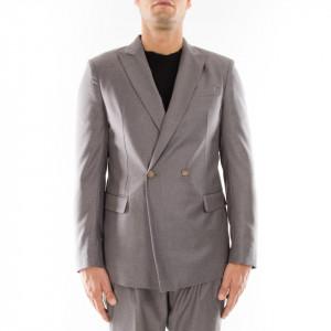 Marsem giacca elegante doppiopetto grigia