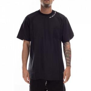 Numero 00 t-shirt girocollo uomo nera