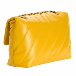 Pinko-borsa-big-puff-maxi-giallo