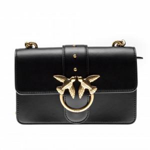 Pinko borsa tracolla mini in pelle nera