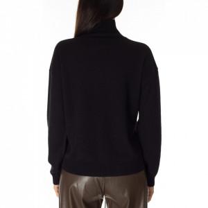 maglia-collo-alto-cachemire-nera-donna