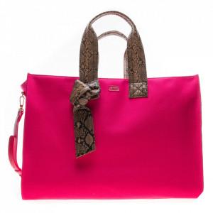 Pinko maxi fuchsia shopping bag