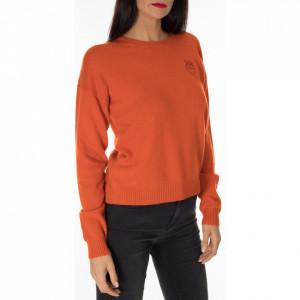 Pinko orange cashmere sweater