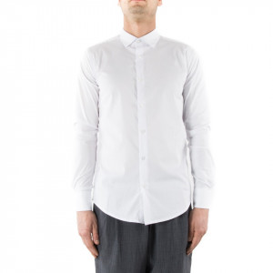 Camicia slim fit uomo bianca Outfit