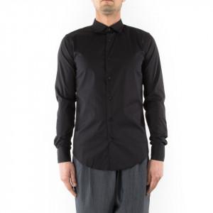 Camicia slim fit uomo nera Outfit