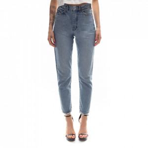 Dr Denim jeans strappato vita alta