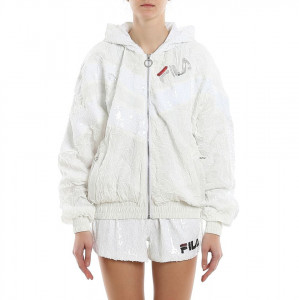 Fila white bomber jacket with sequins