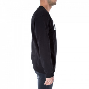 Gaelle felpa nera logo bianco
