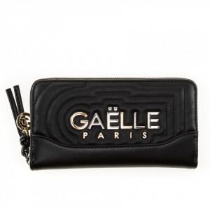 Gaelle portafoglio nero con zip