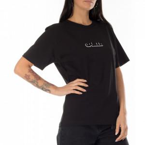 Gaelle t-shirt nera con logo