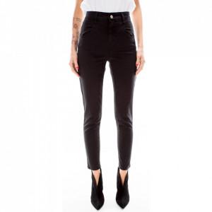 Jijil black high-waisted skinny trousers