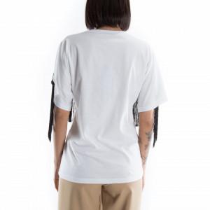 t shirt con frange