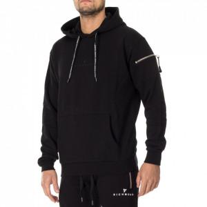 John Richmond black hooded sweatshirt