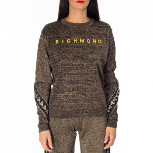 John Richmond gold lurex sweater