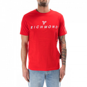 john-richmond-tshirt-rossa-logo