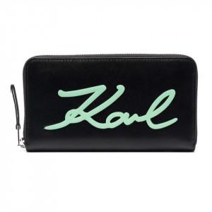 Karl Lagerfeld portafoglio donna Signature con cerniera
