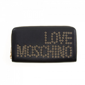 Love Moschino black wallet with zip and studs