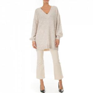 Minimum maxipull in lana bianco avorio