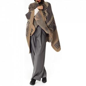 NoSecret cape in damask wool