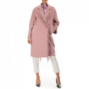 NoSecrets cappotto rosa con frange