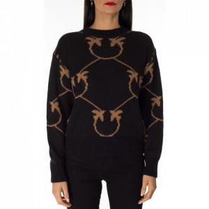 Pinko black sweater with logo