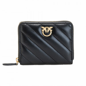 Pinko black taylor quilted wallet