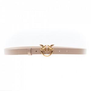 Pinko cintura piccola beige logo oro