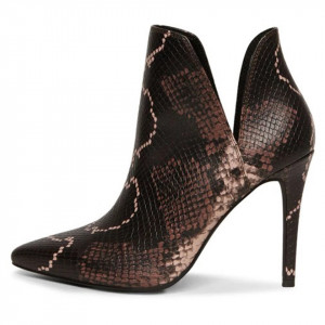 Steve Madden Analese python heel ankle boots