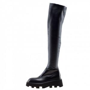 Strategia platform knee boots