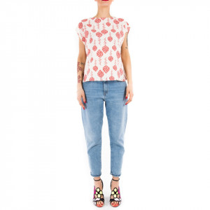 Top donna stampa floreale