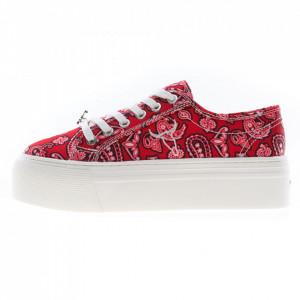 Windsor Smith Ruby red bandana platform sneakers