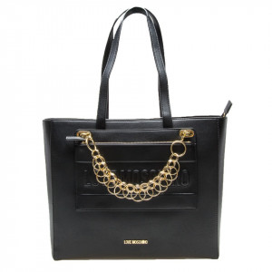 Moschino Love shopping bag nera invernale