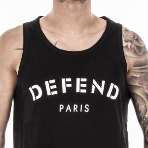 Defend Paris canotta nera uomo stampa defend