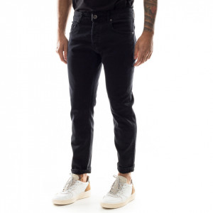 Gaelle jeans uomo slim nero