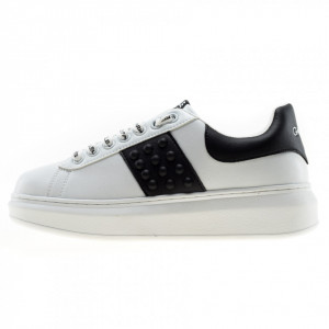 Gaelle sneakers platform bianche con borchie