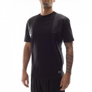 Gaelle t-shirt uomo nera con inserti in nylon