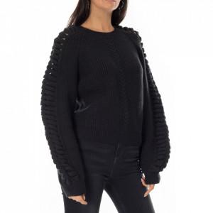 Isabelle Blanche maglione nero donna