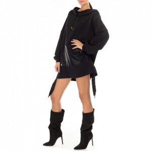 Jijil abito corto in felpa nero