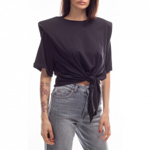 Jijil black knotted t-shirt