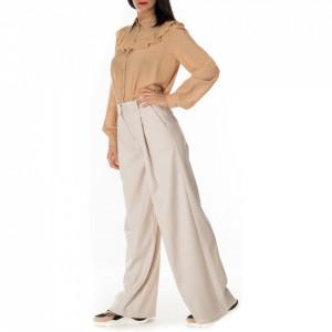 Jijil pantalone a palazzo bianco burro