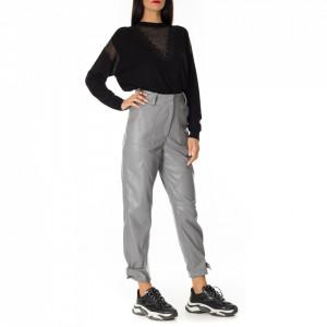 Jijil pantalone in ecopelle grigio
