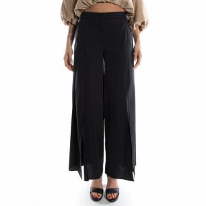 Jijil pantaloni a palazzo vita alta nero