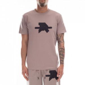 John Richmond t-shirt grigia con logo gommato