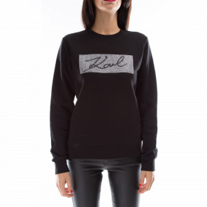 Karl Lagerfeld diamonds box logo sweatshirt
