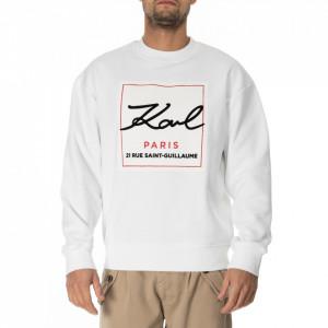 Karl Lagerfeld white logoed sweatshirt