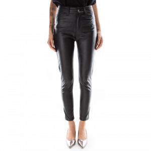 Marc Ellis black eco-leather trousers