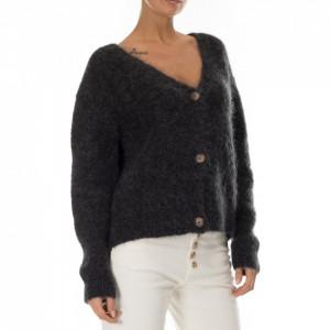 Minimum cardigan lana mohair grigio