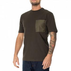 Minimum tshirt uomo verde con taschino