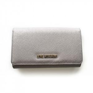 Moschino Love portafoglio argento grande